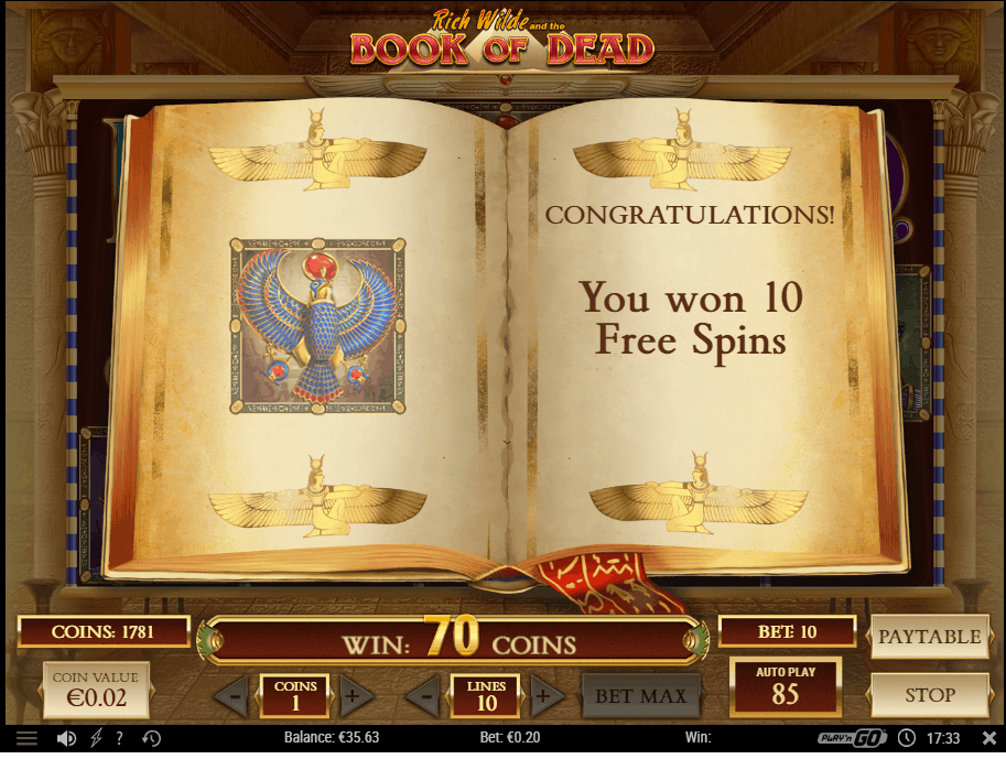 Freespins Book of Dead
