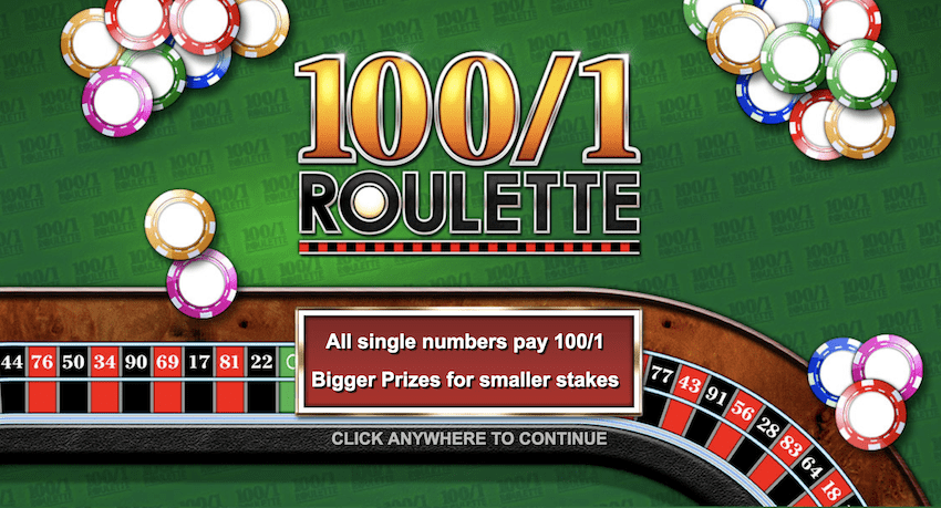 100 to 1 roulette afbeelding