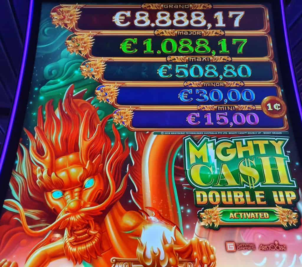 jackpots Mighty Cash Double Up