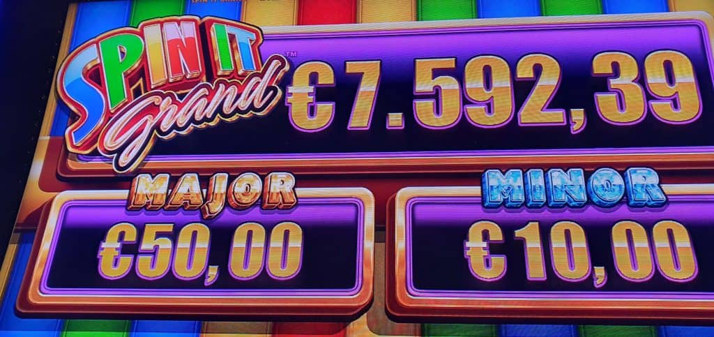 Spin It Grand jackpots