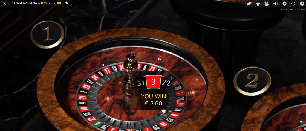 Instant roulette win